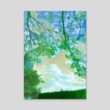 blue view. - Acrylic by fuschia blue