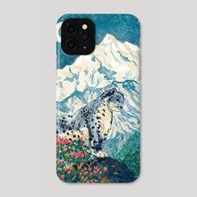 Himalayan Snow Leopard - Phone Case by Nano Février