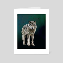 THE WOLF: THE GREY HUNTER - Art Card by Rebecca Allen