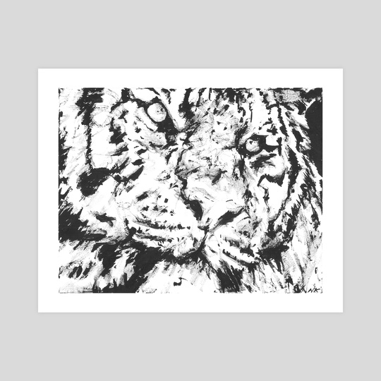 Monotone Tiger by Natalie Knowles