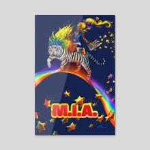 M.I.A. vs Rainbow Brite - Acrylic by JESSE V1TAL