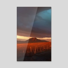 Sundown - Acrylic by Steve Hamilton