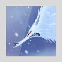 GOT - Ghost Dire Wolf - Acrylic by Nikolas Ilic