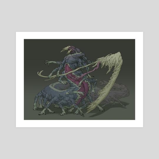 Centipede fleshy creature by Guillem Ferrer