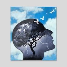 Mental Health - Acrylic by Robert Carter