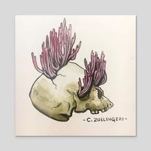 Mushroom Skull - C. Zollingeri - Acrylic by NYWN [ˈna͜i.ˌwɪn]