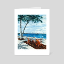 Sarasota Bay - Art Card by Ken Vonderberg