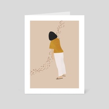 Moody Woman, Sad Woman Illustration - Art Card by Ariani Anwar