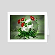 Skull Flower - Art Card by mtforlife