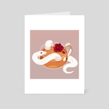 Rose Tea - Art Card by Re(h)sa / Hasenherz