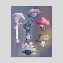 Funguys - Acrylic by Aly Jones
