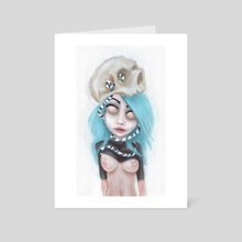 (Wearing Away) Blue - Art Card by Rouble Rust