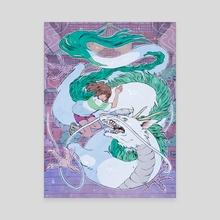Spirited Away - Canvas by Elizabeth Blundell