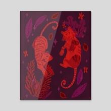 Tigers - Acrylic by Katie Chapman