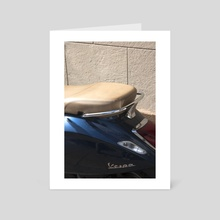 Piaggio - Art Card by Miguel Johnson