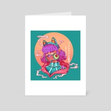 Face Mask - Art Card by Sofía Mengoni