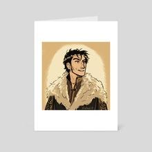 Theon Greyjoy, aCoK - Art Card by shebsart