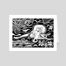 Casper the Hawaiian Deep Sea Octopus - Art Card by Heather Chen