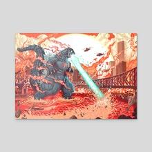 Destroy all Brisbanes - Acrylic by Jordan Lewerissa