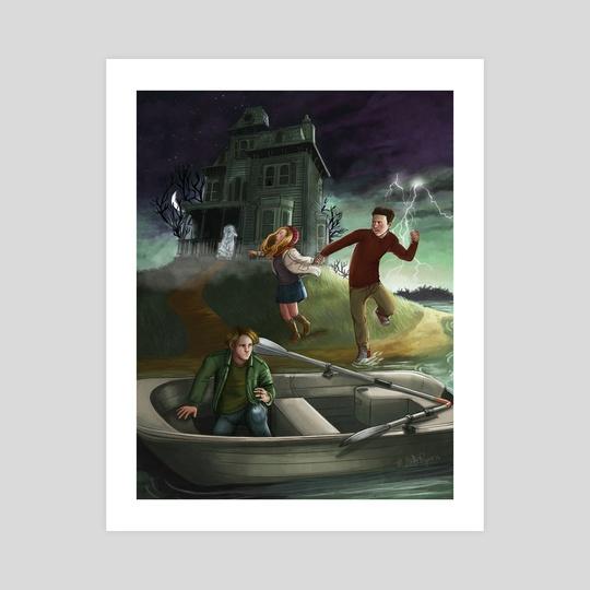 Haunted House Island by Mallette Blum