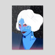 Portrait study - Acrylic by sarah rain