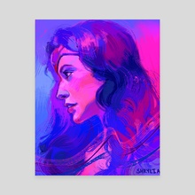 Wonder Woman - Canvas by S