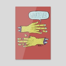 Whatever - Acrylic by M C Wolfman