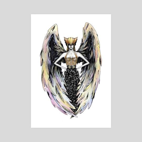 Hawkgirl by Alina Mozzherina