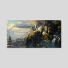 Sorcerer's Hill - Acrylic by Bobby Myers