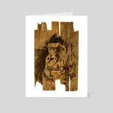 gorilla 02 - Art Card by philippe imbert