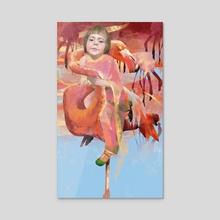 pink world - Acrylic by Margaryta Sheiko