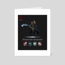 Dota 2 Phantom Assassin - Art Card by Yong Chuan