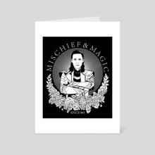 mischief & magic since 965  - Art Card by Barbara Hudeczek
