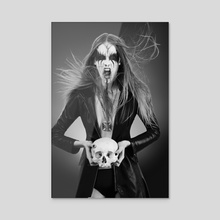Black Metal Barbie II - Acrylic by Antonella Arismendi