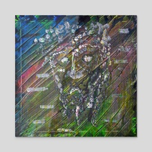 negative headspace--evil - Acrylic by Michael Shively