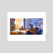 Workshop Nap - Art Card by Ahmed Gamal
