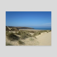 Crantock Beach - Canvas by Lucy Reynolds