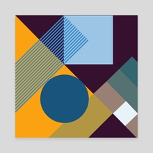 Positive geometric 07 - Canvas by Dmitry Payvin