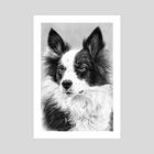 Dog Portrait 2 - Art Print by Aurelia Chaintreuil