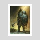 The Crusader - Art Print by Cristi Balanescu