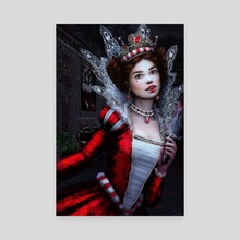 Killer Queen of Hearts - Canvas by Tanya Varga