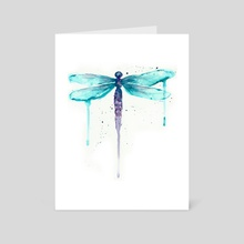 Dragonfly - Art Card by Ursula Williams