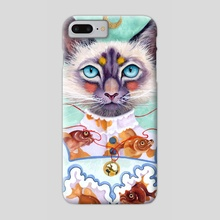 Lady Cat - Phone Case by Kit Mizeres