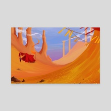 Amber Desert - Canvas by Saren Hale