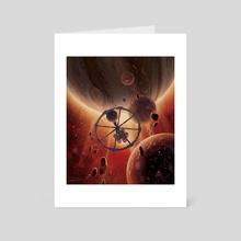 Rondevu with Jupiter - Art Card by Jon Hrubesch
