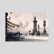 Coffee Shop - Paris - Canvas by Arte Impressao