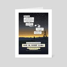 Rocket Llama advert - Art Card by Alejandra Wilson