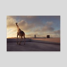 Giraffe  - Canvas by Kamin Jaroensuk