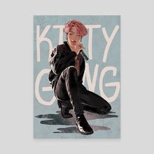 Kitty Gang Ver. 2 - Canvas by Alexandra T.