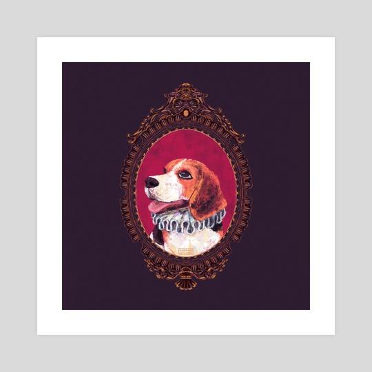 Beagle Portrait by Hannah's Art Space